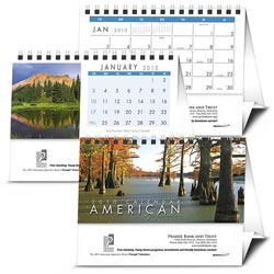 Custom imprinted American Splendor Desk Calendar