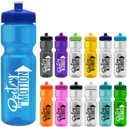 Custom imprinted 28 oz. Transparent Color Bottle -BPA-free