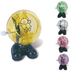 Custom imprinted Round Translucent Walking Winder