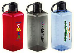 Custom imprinted CLOSEOUT Diamond Polycarbonate Bottle