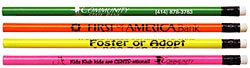 Custom imprinted Neon Buy Write Pencil