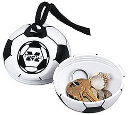 Custom imprinted Soccer Ball with Neck Rope