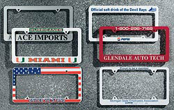 Custom imprinted Universal License Plate Frame