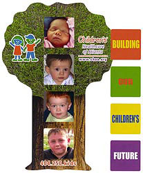 Custom imprinted Family Tree Photo Frame Magnet