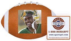Custom imprinted Football Photo Frame Magnet