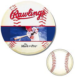 Custom imprinted Baseball Shaped Magnet