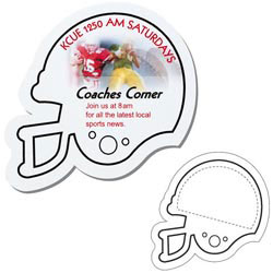 Custom imprinted Football Helmet Shaped Magnet