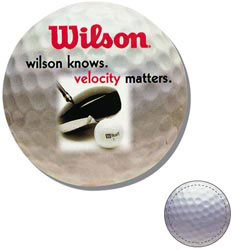 Custom imprinted Golf Ball Shaped Magnet