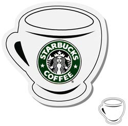 Custom imprinted Coffee Cup Shaped Magnet