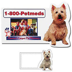 Custom imprinted Dog Business Card Shaped Magnet