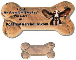 Custom imprinted Dog Bone Shaped Magnet