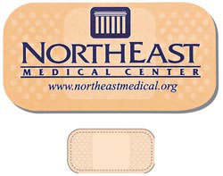 Custom imprinted Adhesive Pad Healthcare Shaped Magnet