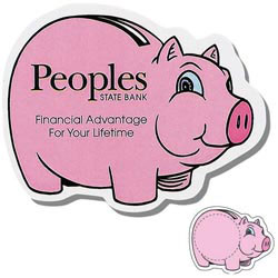 Custom imprinted Piggy Bank Shaped Magnet