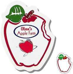 Custom imprinted Small Apple Shaped Magnet