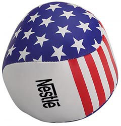 Custom imprinted USA Pillow Ball