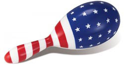 Custom imprinted USA Maracas