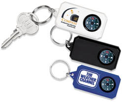 Custom imprinted Compass Key Tag