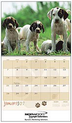 Custom imprinted Puppies Calendar