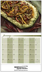 Custom imprinted Gracious Dining Calendar