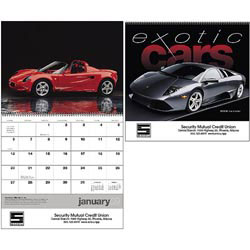Custom imprinted Exotic Cars Calendar