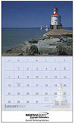 Custom imprinted Lighthouses Calendar