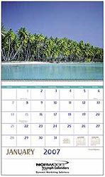 Custom imprinted Beaches Calendar