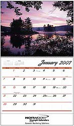 Custom imprinted Sunsets Calendar