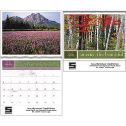 Custom imprinted America the Beautiful w/ Recipes Calendar