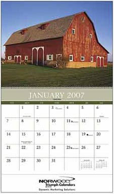 Custom imprinted Barns Calendar
