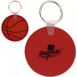 Custom imprinted CLOSEOUT Basketball Key Tag
