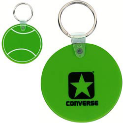 Custom imprinted CLOSEOUT Tennis Key Tag