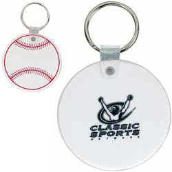 Custom imprinted CLOSEOUT Baseball Key Tag
