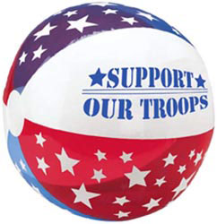 Custom imprinted Patriotic Beach Ball