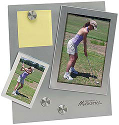 Custom imprinted Dual Magnetic Photo Frame with Stand
