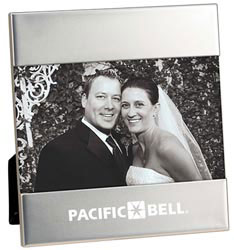 Custom imprinted Matte Silver Photo Frame (4 x 6)