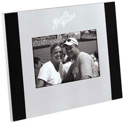 Custom imprinted Brushed Aluminum / Black Photo Frame (4 x 6)