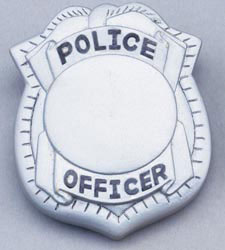 Custom imprinted Police Badge Stress Relievers