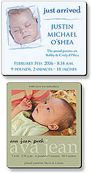 Custom imprinted Baby Birth Announcement Magnet