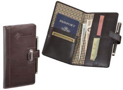 Custom imprinted Cutter & Buck American Classic Travel Wallet