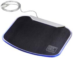 Custom imprinted Illuminate Mouse Pad and 4-Port USB Hub