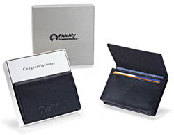 Custom imprinted Expandable Business Card Holder