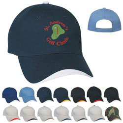 Custom imprinted Wave Sandwich Cap - Embroidered