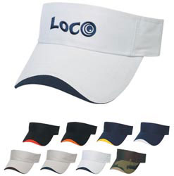 Custom imprinted Wave Sandwich Visor - Embroidered