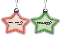 Custom imprinted Lighted Pendant Necklace-Star