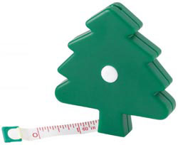 Custom imprinted Christmas Tree Button Release Tape Me