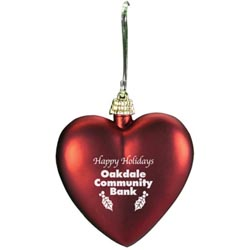 Custom imprinted Christmas Ornament - Heart Shaped