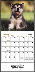Custom imprinted Puppies & Kittens Mini Calendar