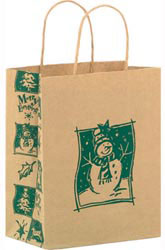 Custom imprinted Merry Everything Paper Shopper Bag