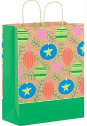 Custom imprinted Colorful Ornaments Paper Shopper Bag
