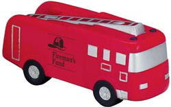Custom imprinted Fire Truck Stress Reliever